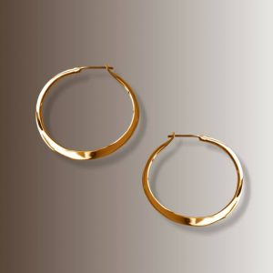 RABAT HOOPS 1 1/2″ #154 gold