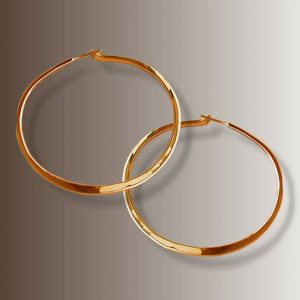 RABAT HOOPS 2 1/4″ dia # 156.5 gold
