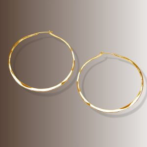 RABAT HOOPS 1 1/2″ dia #132 – Gold
